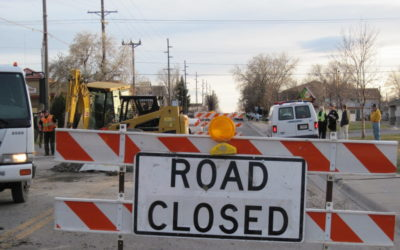 """""""road closed"""" traffic control signs"""