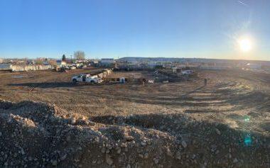 panorama of a job site